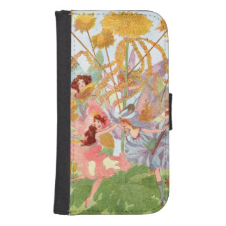 Vintage May Day Faeries Samsung S4 Wallet Case