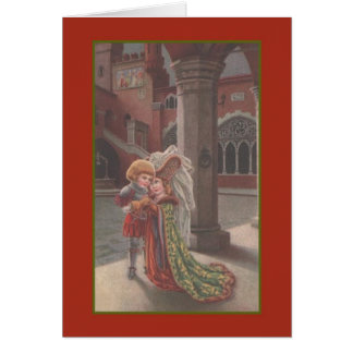 Vintage Medieval Wedding Day Card