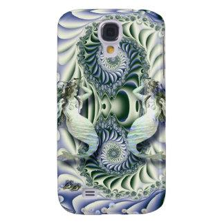 Vintage Mermaids in  Fantasy Ocean Galaxy S4 Case