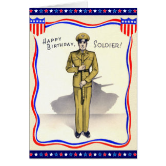 Military birthday greeting cards zazzle vintage military birthday card bookmarktalkfo Image collections