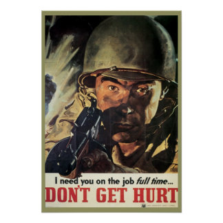 Vintage Military Poster from WWI and WWII