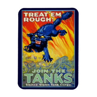Vintage Military War Advertising with a Wild Cat Magnet