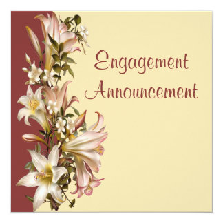 Vintage Modern Engagement Announcement