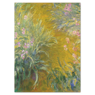Vintage Monet Painting Path Through Irises Tissue Paper