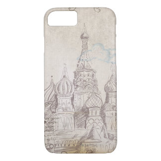 Vintage Moscow Postage Design iPhone 8/7 Case