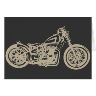Vintage Motorcycle Illustration Card