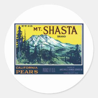 Vintage Mt Shasta California Pears Label Stickers
