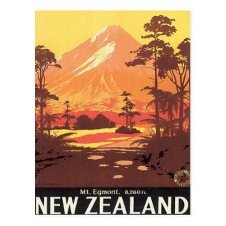 Vintage Mt.Taranaki Mt.Egmont New Zealand Postcard