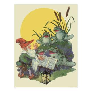 Vintage Music Magazine Cover Art, Etude Frog Choir Postcard