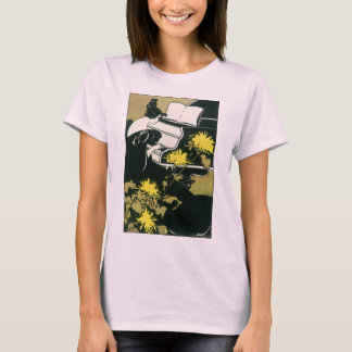 Vintage Music, Miss Traumerei Playing Piano, Reed T-Shirt