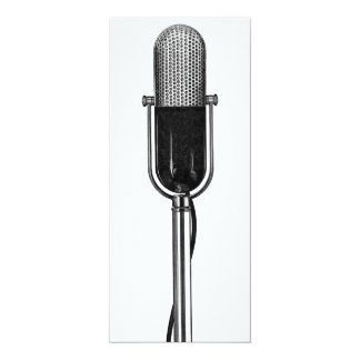 Vintage Music Musical Microphone Birthday Party Invitations