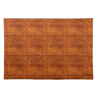 Vintage Music on Brown Placemat