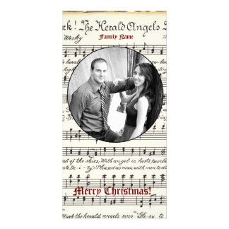 Vintage Music Photo Christmas Card Photo Greeting Card