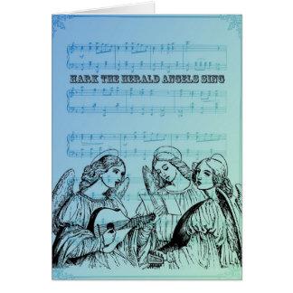 Vintage Musical Angels Greeting Card