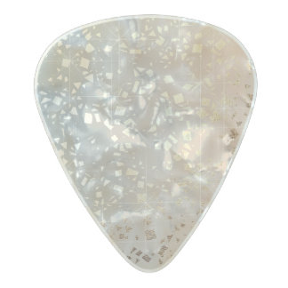 Vintage Muted 1920 Glam Gold Star Foil Sparkle Pearl Celluloid Guitar Pick