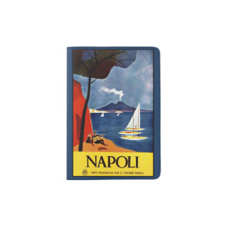 Vintage Napoli (Naples) Italy passport holder
