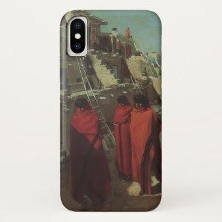 Vintage Native American, Hopi Pueblo by Louis Akin iPhone X Case