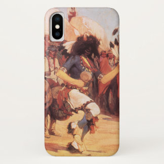 Vintage Native Americans, Buffalo Dance by Cassidy iPhone X Case