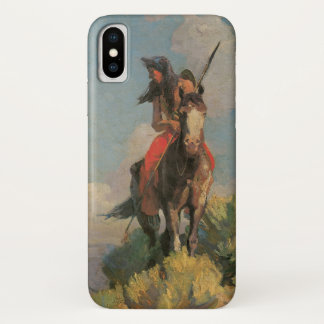 Vintage Native Americans, Crow Outlier by Dunton iPhone X Case