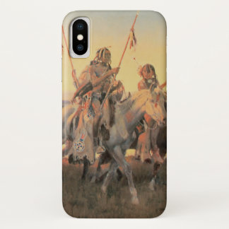 Vintage Native Americans, Piegans by CM Russell iPhone X Case