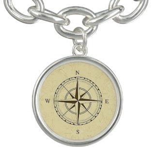 Vintage Nautical Compass Rose Ivory