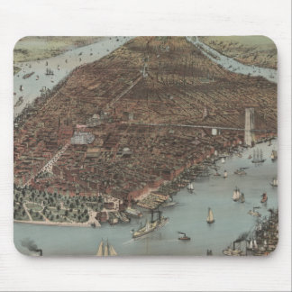 Vintage New York Waterfront Mouse Pad