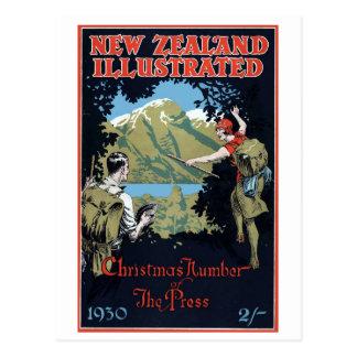Vintage New Zealand Exploration Travel Postcard
