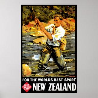 Vintage New Zealand Travel Print