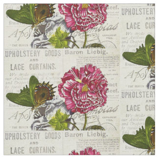 Vintage Newpapers and Flowers