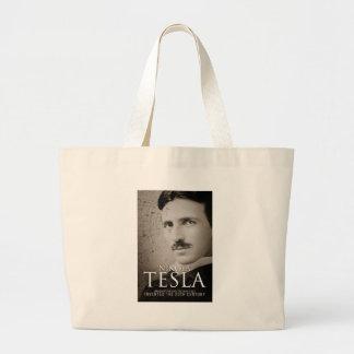 Vintage Nikola Tesla photo Large Tote Bag