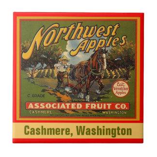 Vintage Northwest Apples Cashmere Crate Label Tile