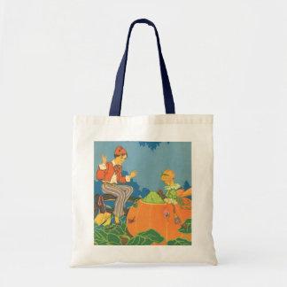 Vintage Nursery Rhyme, Peter Peter Pumpkin Eater Tote Bag