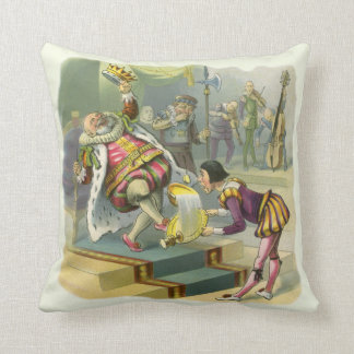 Vintage Old King Cole Nursery Rhyme Poem Song Pillows