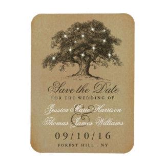 Vintage Old Oak Tree Wedding Save The Date Magnet