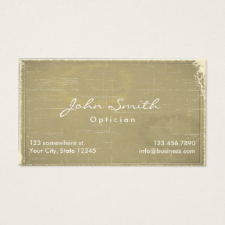 Vintage Old Paper Optician Business Card