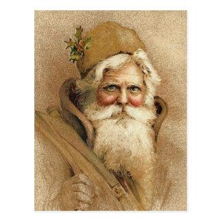 Vintage Old St. Nick Christmas Postcard