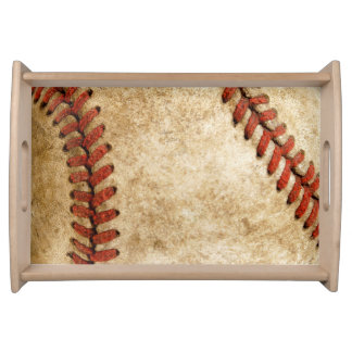 Vintage Old Stylish Baseball Look Serving Tray