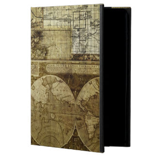Vintage old world Maps Cover For iPad Air