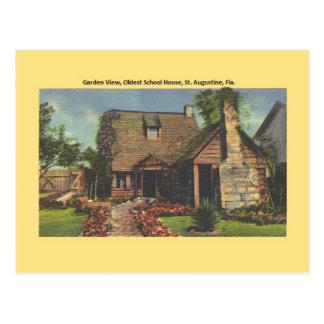 Vintage Oldest School House St. Augustine Postcard