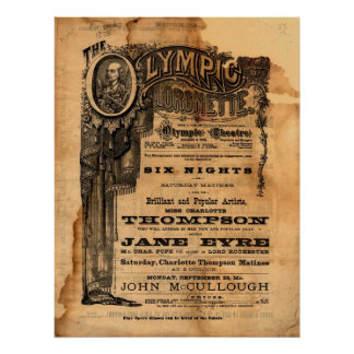 Vintage Olympic Theatre Flyer Poster