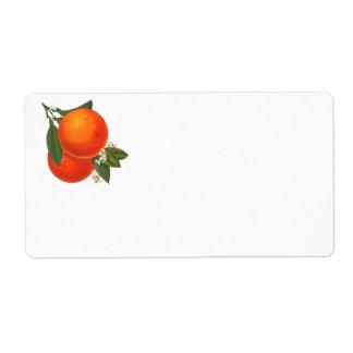 Vintage Orange Art Label Shipping Label