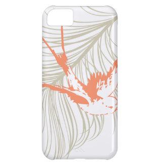 Vintage Orange Bird & Feather iPhone 5C Case