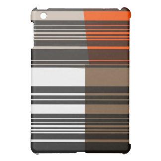 Vintage Orange Black White Stripes Art Pattern iPad Mini Cover