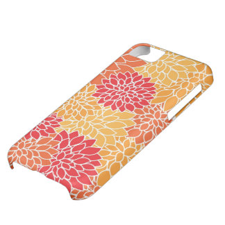 Vintage orange floral iPhone 5C cover