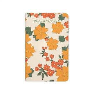 Vintage Orange Floral Journal