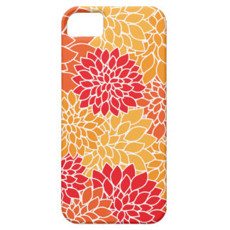 Vintage Orange, Red and Yellow Flowers Phone Case iPhone 5 Case