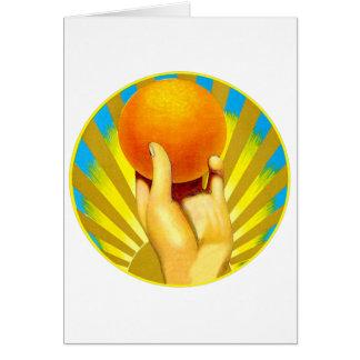 Vintage Oranges Orange Sunshine Citrus Fruit Greeting Card