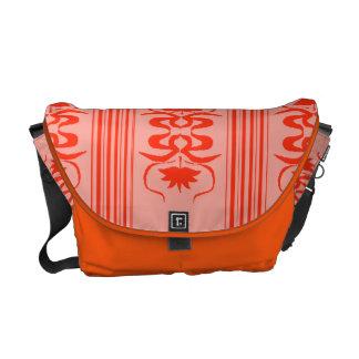 Vintage oriental inspired art nouveau laptop messenger bag