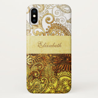 Vintage Ornamental Floral iPhone X Case