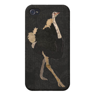 Vintage Ostrich Black iPhone Case iPhone 4/4S Cover